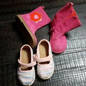 Toms Pink MaryJanes Baby Gap Pink Flower Boot